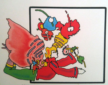 Angel Into Box 1976 (Vintage)  Limited Edition Print - Peter Max