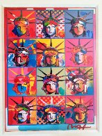 Liberty And Justice For All  2001 Unique Works on Paper (not prints) by Peter Max - 1
