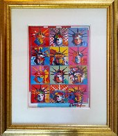 Liberty And Justice For All  2001 Unique Works on Paper (not prints) by Peter Max - 2