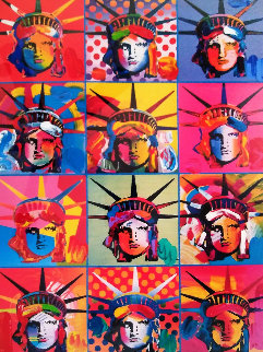 Liberty And Justice For All  2001 Unique Works on Paper (not prints) by Peter Max