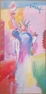 Statue of Liberty 2001 Unique 34 x53 Works on Paper (not prints) - Peter Max