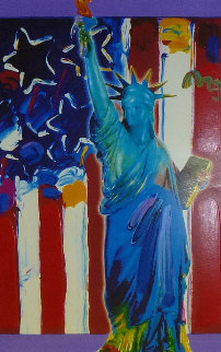 United We Stand II Unique 2005 24x18 Works on Paper (not prints) - Peter Max