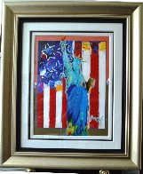 United We Stand II Unique 2005 24x28 Works on Paper (not prints) by Peter Max - 1
