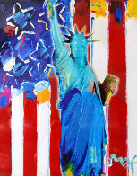 United We Stand II Unique 2005 24x28 Works on Paper (not prints) by Peter Max - 0