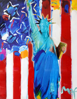 United We Stand II Unique 2005 24x28 Works on Paper (not prints) by Peter Max