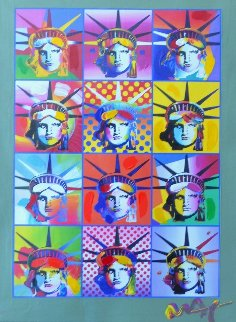 Liberty And Justice For All II  2005 40x34 Works on Paper (not prints) - Peter Max
