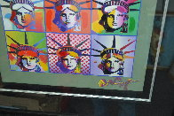 Liberty And Justice For All II  Unique 2005 40x34 Huge Works on Paper (not prints) by Peter Max - 3