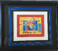 Liberty Head Collage 1997 8x10 Works on Paper (not prints) by Peter Max - 1