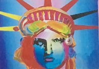 Liberty Head Collage 1997 8x10 Works on Paper (not prints) by Peter Max - 0