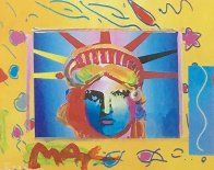 Liberty Head Collage 1997 8x10 Works on Paper (not prints) by Peter Max - 2