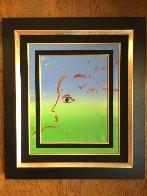 Pop Art Profile  Unique1983 22x18 Original Painting by Peter Max - 1