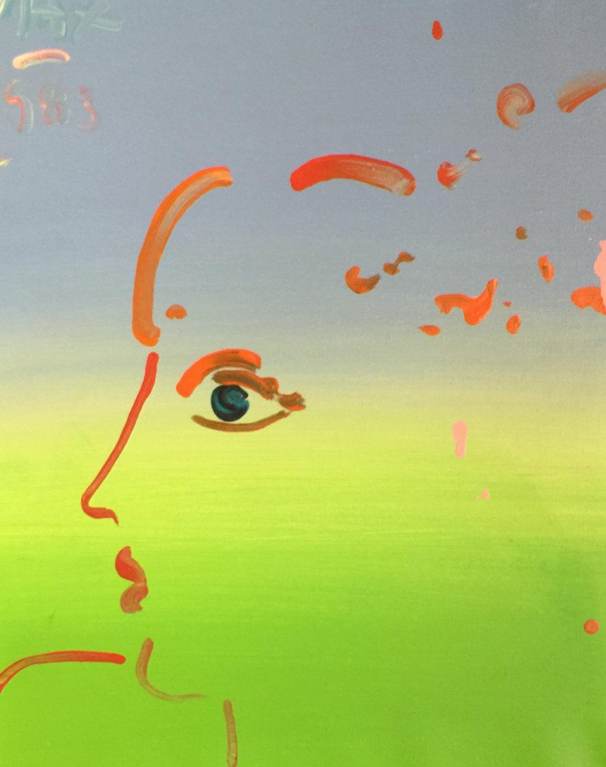 Pop Art Profile  Unique1983 22x18 Original Painting by Peter Max