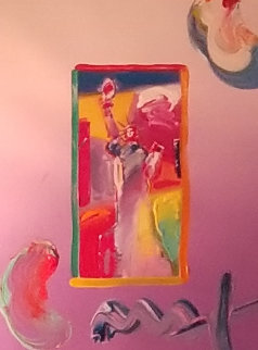 Statue of Liberty 2009 Ver. I #52 Works on Paper (not prints) by Peter Max