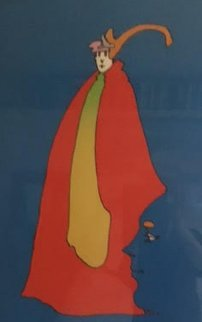 Prince of Blue 1973 Limited Edition Print - Peter Max