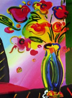 Vase of Flowers 2014 Limited Edition Print by Peter Max