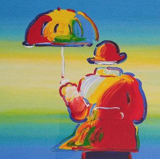 Umbrella Man 2015 Limited Edition Print - Peter Max