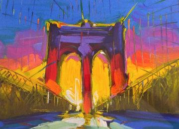 Brooklyn Bridge 2015 New York Limited Edition Print - Peter Max