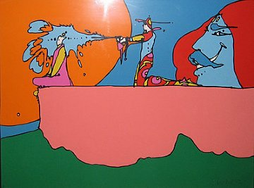 Giving the Light 1972 Limited Edition Print by Peter Max