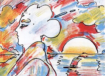 At the Lake PP 1980 Limited Edition Print by Peter Max