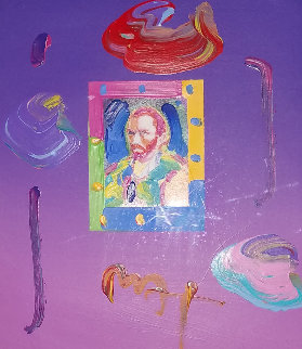 Van Gogh II Unique 2005 16x12 Works on Paper (not prints) by Peter Max