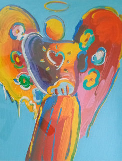 Angel With Heart II 2015 Limited Edition Print - Peter Max
