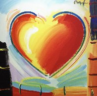 Love Heart 40x40 Original Painting by Peter Max - 4