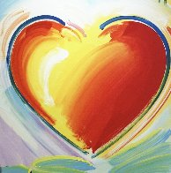 Love Heart 40x40 Original Painting by Peter Max - 0