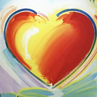 Love Heart 40x40 Original Painting by Peter Max