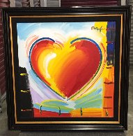 Love Heart 40x40 Original Painting by Peter Max - 2