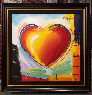 Love Heart 40x40 Original Painting by Peter Max - 1