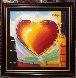 Love Heart 40x40 Original Painting by Peter Max - 3