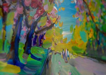 Four Seasons II: Spring Ver III #6 (Central Park) 2013 28x24 Works on Paper (not prints) - Peter Max