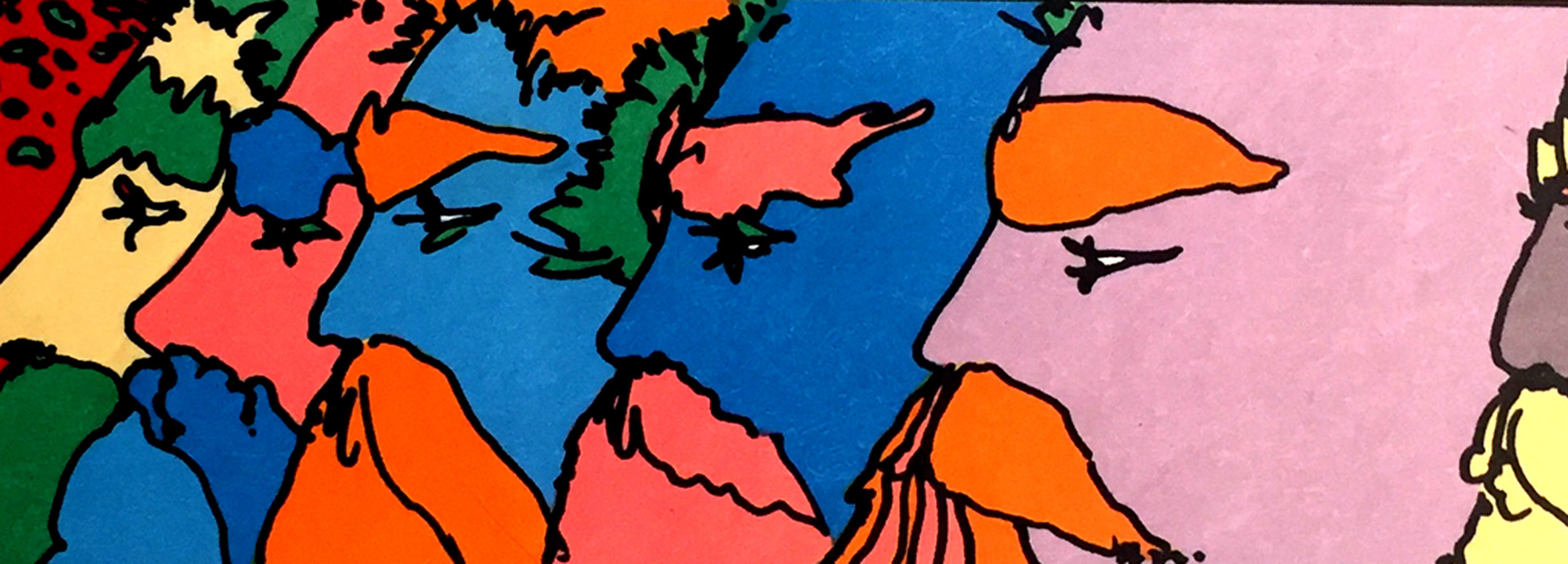 Five Faces Limited Edition Print by Peter Max
