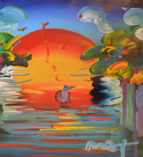 Better World Unique  2008 30x24 Works on Paper (not prints) - Peter Max