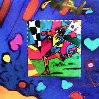Collage Unique  1996 20x22 Works on Paper (not prints) by Peter Max