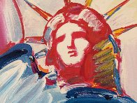 Statue of Liberty  Unique  60x30 Huge Original Painting by Peter Max - 2