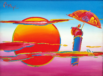 New Moon II 33x43 Original Painting - Peter Max