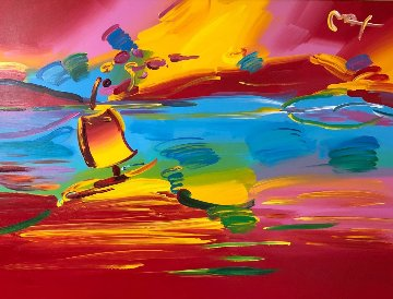 Stormy Sail   2002 44x56 Original Painting by Peter Max