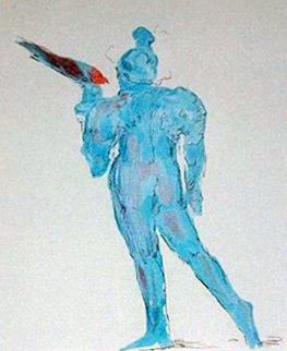Circus Performer With Bird 1976 (Vintage) Limited Edition Print - Peter Max