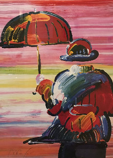 Umbrella Man III 2000 Limited Edition Print - Peter Max