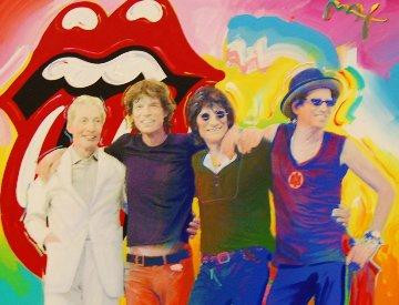 Rolling Stones 2001 28x34 Original Painting - Peter Max