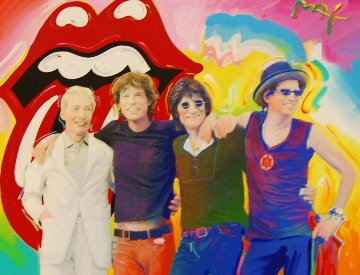 Rolling Stones 2001 28x34 Original Painting by Peter Max