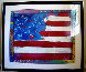 Flag with a Heart 1988 Limited Edition Print by Peter Max - 1