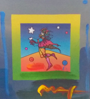Star Catcher on Blends Unique 2005  10x8 Works on Paper (not prints) by Peter Max