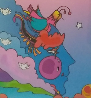 Woodstock Series Profile 2006 Unique 24x23 Works on Paper (not prints) by Peter Max