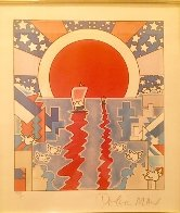 Sailing New Worlds 1976 Limited Edition Print by Peter Max - 0