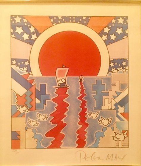Sailing New Worlds 1976 Limited Edition Print by Peter Max