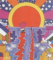 Sailing New Worlds 1976 Limited Edition Print by Peter Max - 2