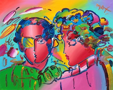 Zero in Love 1992 70x58 Original Painting by Peter Max