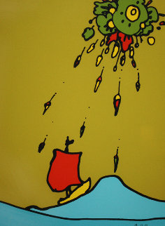 Little Sailboat AP 1974 Limited Edition Print by Peter Max